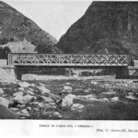 Ponte in ferro sul Vinadia
